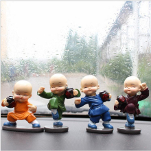 Car Accessories 4 pieces / set of Cute Drunken Fists Maitreya Buddha doll gifts cute car dashboard decoration accessories livi