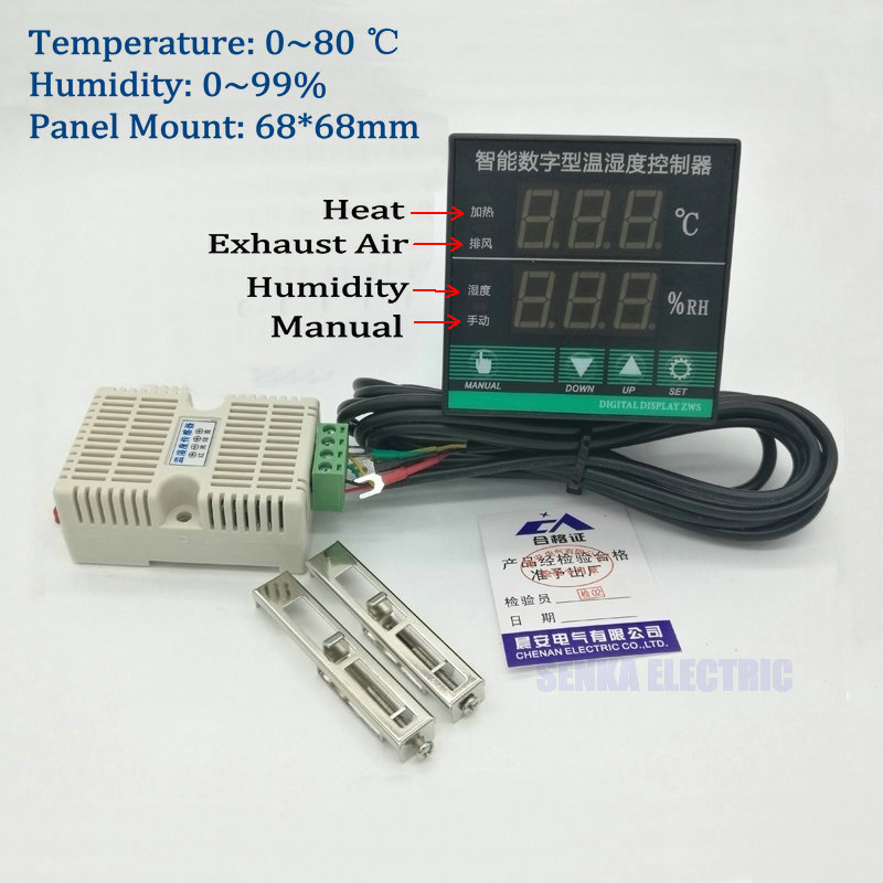 Digital PID Intelligent Egg Hatch Temperature And Humidity Controller Thermostat With Sensor