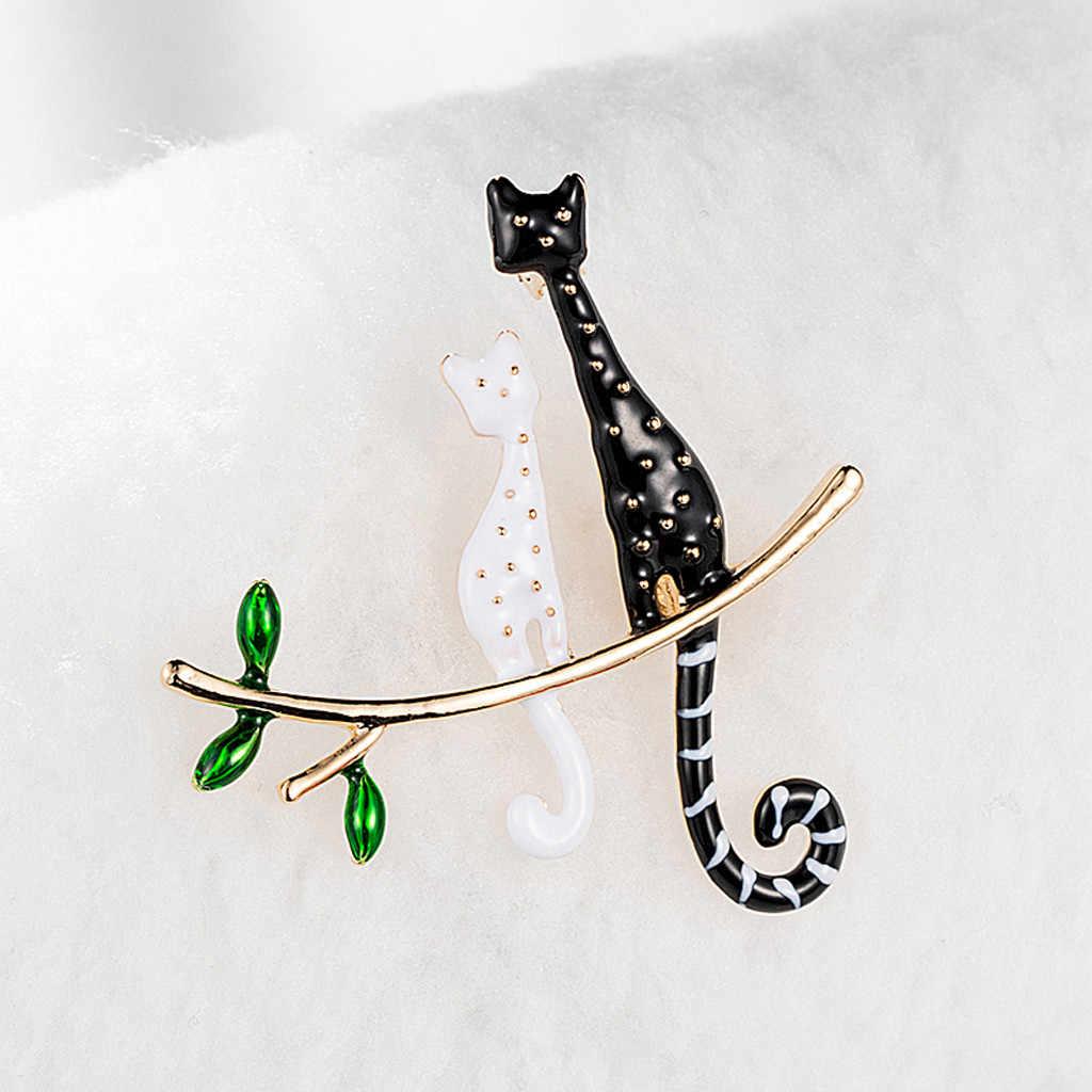 Wanita Kain Seni Mewah Hewan Burung Bros Fashion Aneka Warna Kristal Kucing Dragonfly Bros Retro Tembaga Chili Pohon Buah Y610