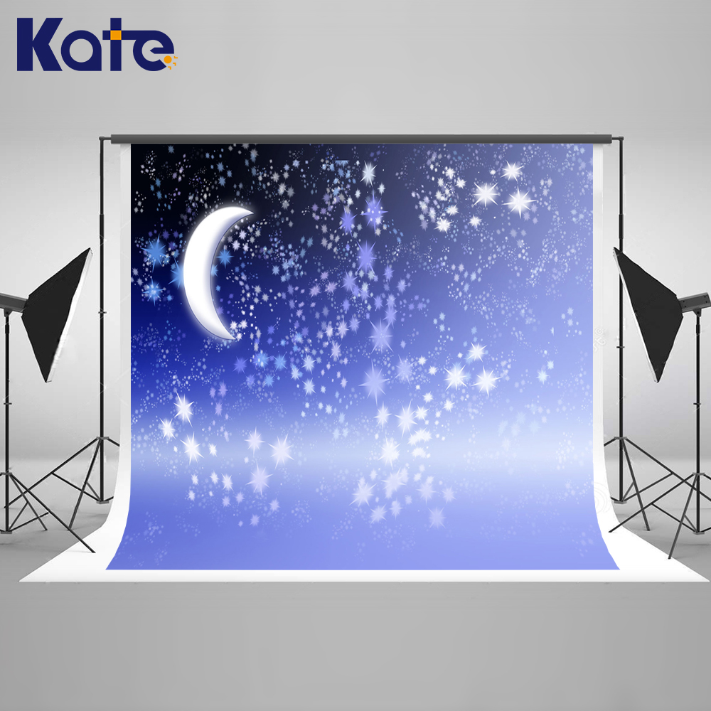 Kate Starry Sky Newborn Photography Props Moon Microfiber Children Princess Photography Backdrops Backgrounds For Photo Studio kate wood photography microfiber background christmas theme snowman photographic backdrops for children studio photo props