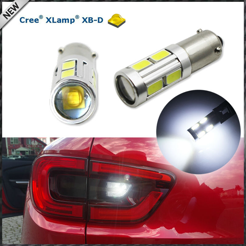 (2) 360 Degrees Xenon White 3W CRE E w/ 8-SMD H21W BAY9s 120 degress LED Replacement Bulbs For Backup or Parking Lights 2pcs brand new high quality superb error free 5050 smd 360 degrees led backup reverse light bulbs t15 for jeep grand cherokee