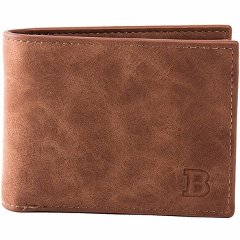 Mens Wallet with Coin Bag Zipper