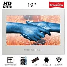 """सोरीया 1 9 """"मैजिक स्मार्ट एंड्रॉइड मिरर आईपी 66 बाथरूम टीवी यूएसबी एलईडी वॉटरप्रूफ टीवी टीवी माउंट्स होटल सौना कक्ष के साथ"""