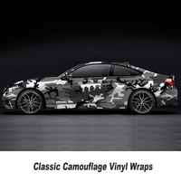 5/10/15/20/25/30m*1.52m Car styling Black and white Camo Vinyl Wrap Car Motorcycle Decal Phone Laptop DIY Styling