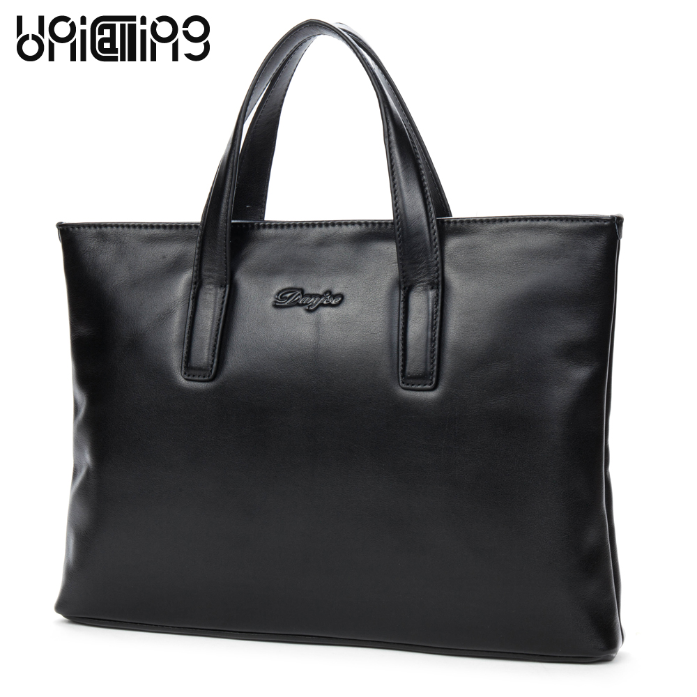 Men business bag leather laptop men handbags genuine leather brand fashion casual men tote handbag cow leather men briefcase bag