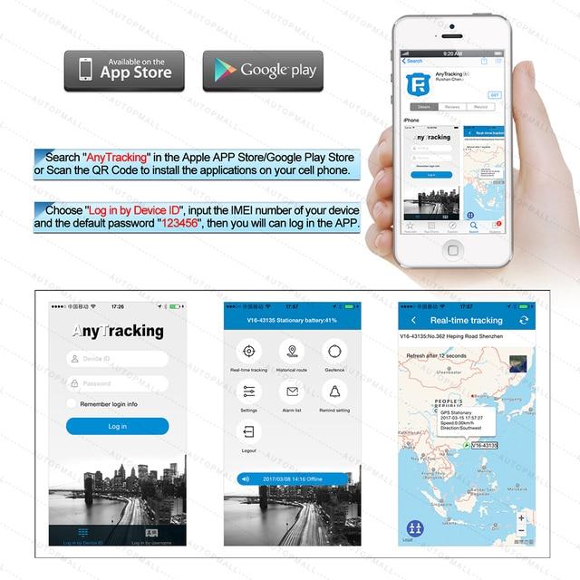 Mini GPS Tracker Children Kids RF-V16 Hand-free Talk 2G GSM GPS Locator 12 days Standby SOS Call Voice Monitor Free APP Tracker 5