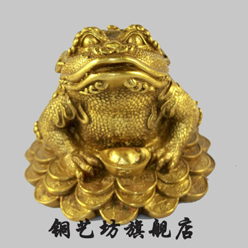 Competitive Special Pure Copper Recruit Choi Toad Of Furniture For Rather Than For Use The Tripod Toad Gold Cicada Shop Gift