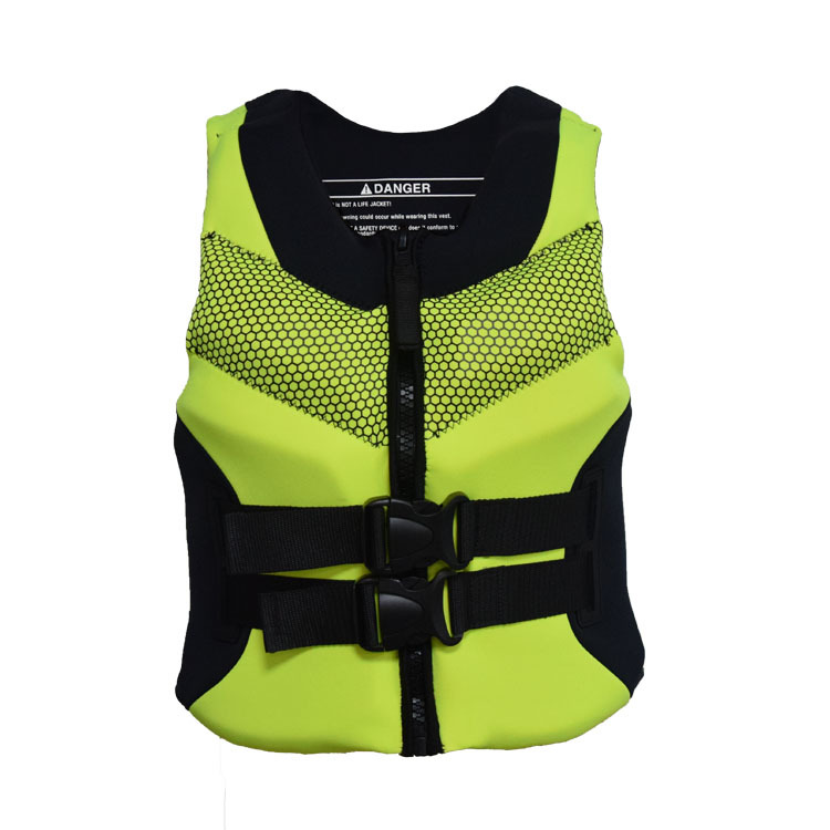 Adult Life Vest Premium Neoprene Life Jacket Front Zipper Belts Safety Water Sports Men's Women's Youth Life Vest  S To 4XL