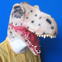 2017 New Design Eco friendly Adult size realistic latex Dinosaur Mask Triceratops Full Head Party Animal Mask Tyrannosaurus Mask