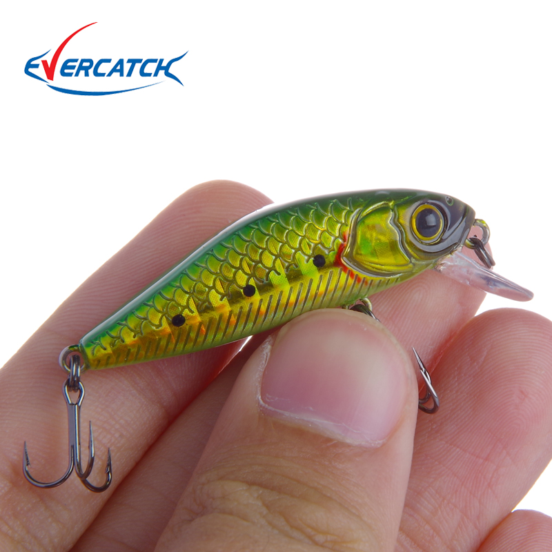 201EVERCATCH 1pcs Swim Fish Fishing Lure 40mm 3.2g Artificial Hard Crank Bait Wobbler Mini Fishing Crankbait lure Slow Sinking fishing lure minnow crankbait artificial hard swim bait hook tackles 3d eyes new
