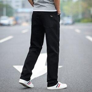 Image 5 - 2020 חדש גברים של קלאסי ישר שחור ג ינס אופנה עסקים מקרית אלסטי רופף מכנסיים זכר מותג מכנסיים בתוספת גודל 40 42 44