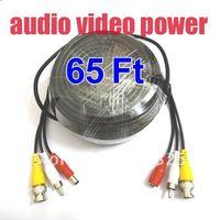 65 أقدام تمديد كابلات للامن cctv كاميرا فيديو أغنية قوة a84|cables for security cameras|cable forcable for cctv -