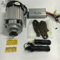 500W DC 48V Brushless Motor BM1418ZXF Electric Bicycle Motorcycle Electric Kit Motorcycle Motor WIth Throttle Handle