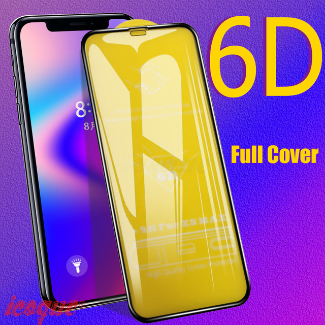 6D Protective Glass for iPhone 11 Pro Max SE 2020 8 6 Screen Protector Cover 3D Tempered Glass for iPhone 8 X 6 6s 7 Plus XR XS