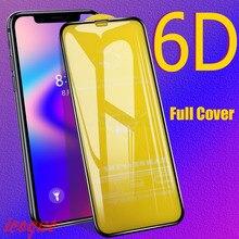 6D ป้องกันแก้วสำหรับ iPhone 11 PRO MAX SE 2020 8 6 ป้องกันหน้าจอ 3D กระจกนิรภัยสำหรับ iPhone 8X6 6s 7 Plus XR XS