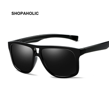 Polarized Men Sunglasses Brand Designer Retro Square Sun Gla