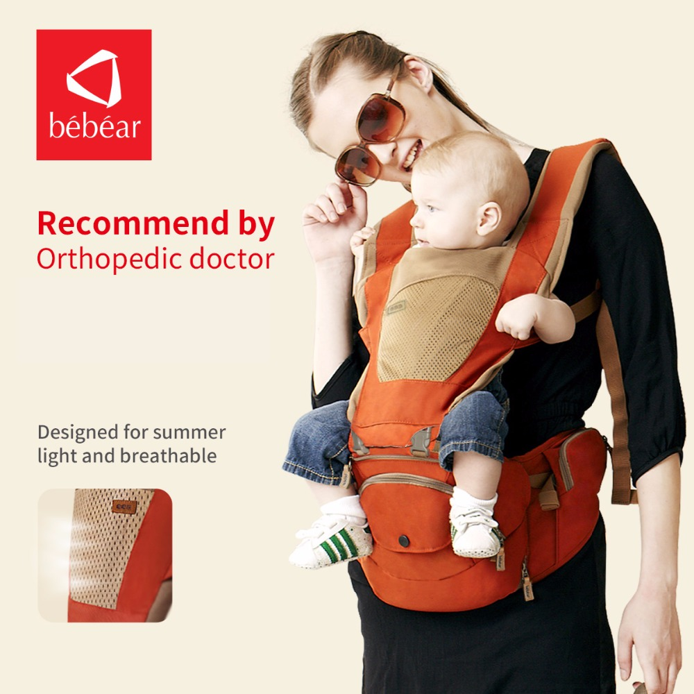 Bebear hipseat for prevent o-type legs new aviation aluminum 6 in 1 carry style load 20Kg Ergonomic baby carriers kid sling new infant backpack hip seat newborn prevent o type legs 4 in 1 carry style loading bear 20kg ergonomic baby carriers kid sling