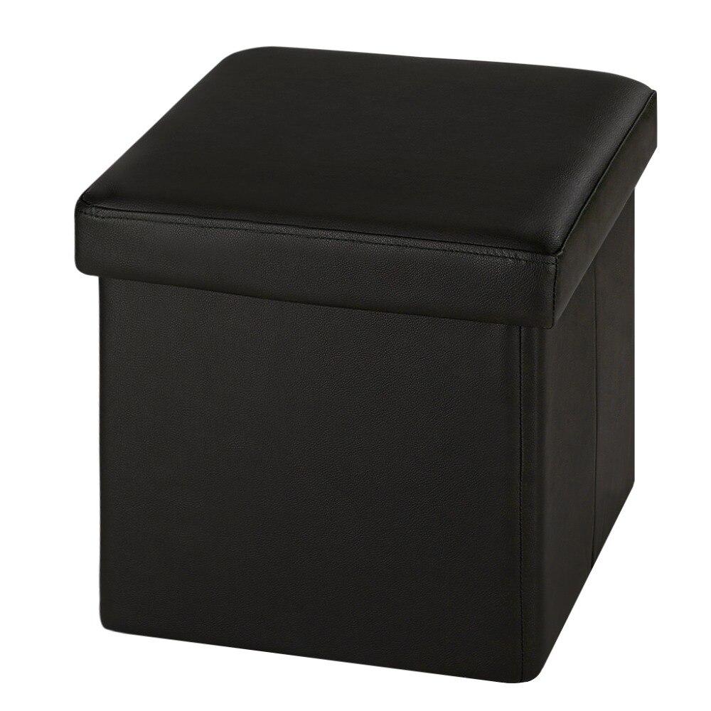 Fantástico Muebles De Cuero Otomana De Almacenamiento De Cubo Molde ...