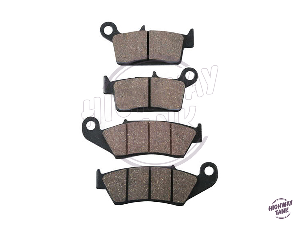 ФОТО 4 Pcs Motorcycle Front Rear Brake Pads case for SUZUKI RM 125 250 RM125 1999 RM250 2000 DR-Z 400 DRZ400 DR 650 1996-2000