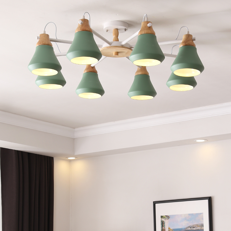 MDWELL New Arrival LED Ceiling Lights For Living Room Bedroom White Wooden Lustre Metal Ceiling Modern Lustres E27 LustresMDWELL New Arrival LED Ceiling Lights For Living Room Bedroom White Wooden Lustre Metal Ceiling Modern Lustres E27 Lustres