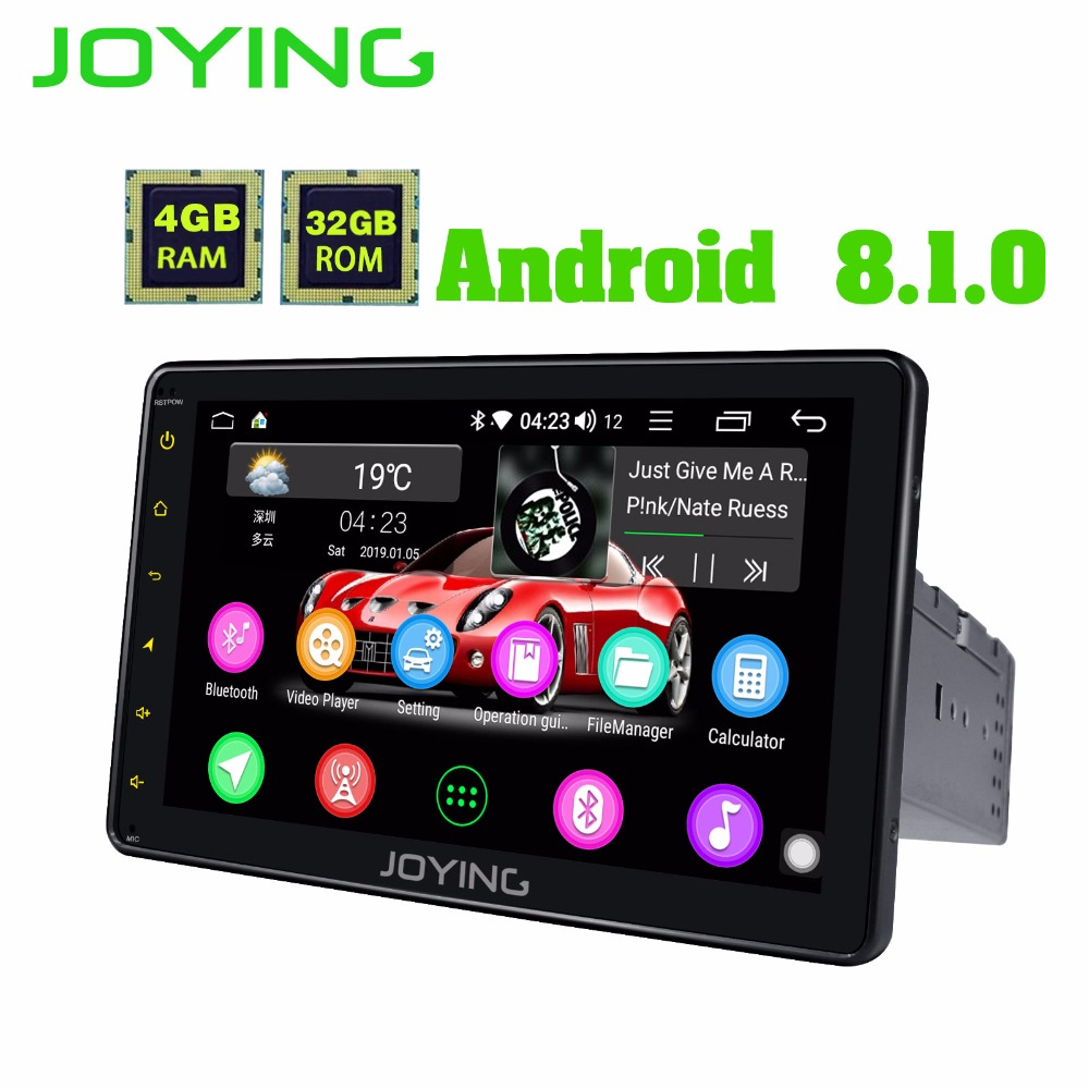 JOYING 8 inch 4GB+32GB Octa Core single Android 8.1 car radio player with DSP HD head unit Android auto Split Screen Subwoofer