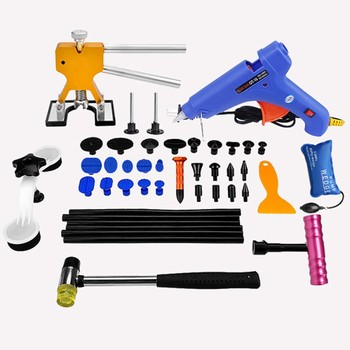 PDR Tools Paintless Dent Repair Tools Car Hail Damage Repair Tool Hot Melt Glue Sticks Glue Gun Puller Tabs Kit