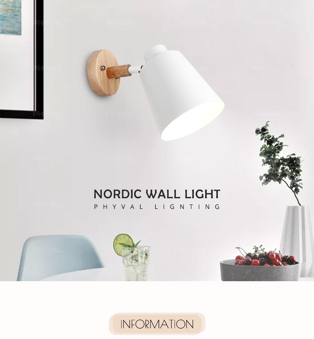 Aplique pared de madera estilo nórdico