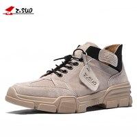 Z. Suo/мужские ботинки из натуральной кожи; коллекция 2019 года; мужская обувь ручной работы; высококачественные ботильоны; wan boats; модная повседн...