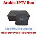 Envío gratis 10 unids Marte Árabe IPTV Caja, 500 unids en vivo tv + 1000 unids Películas Gratis para siempre