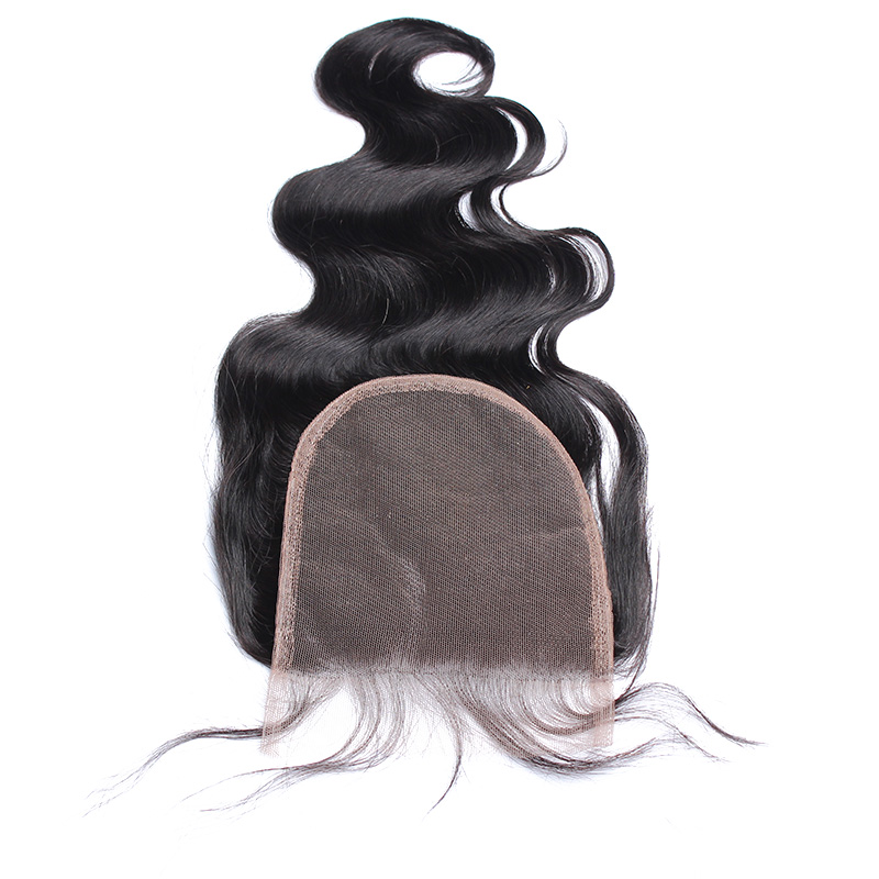 5x5 Lace Closure Body Wave Free Part Pre Plucked With Baby Hair Brazilian Remy Human Hair Dolago 130% Density