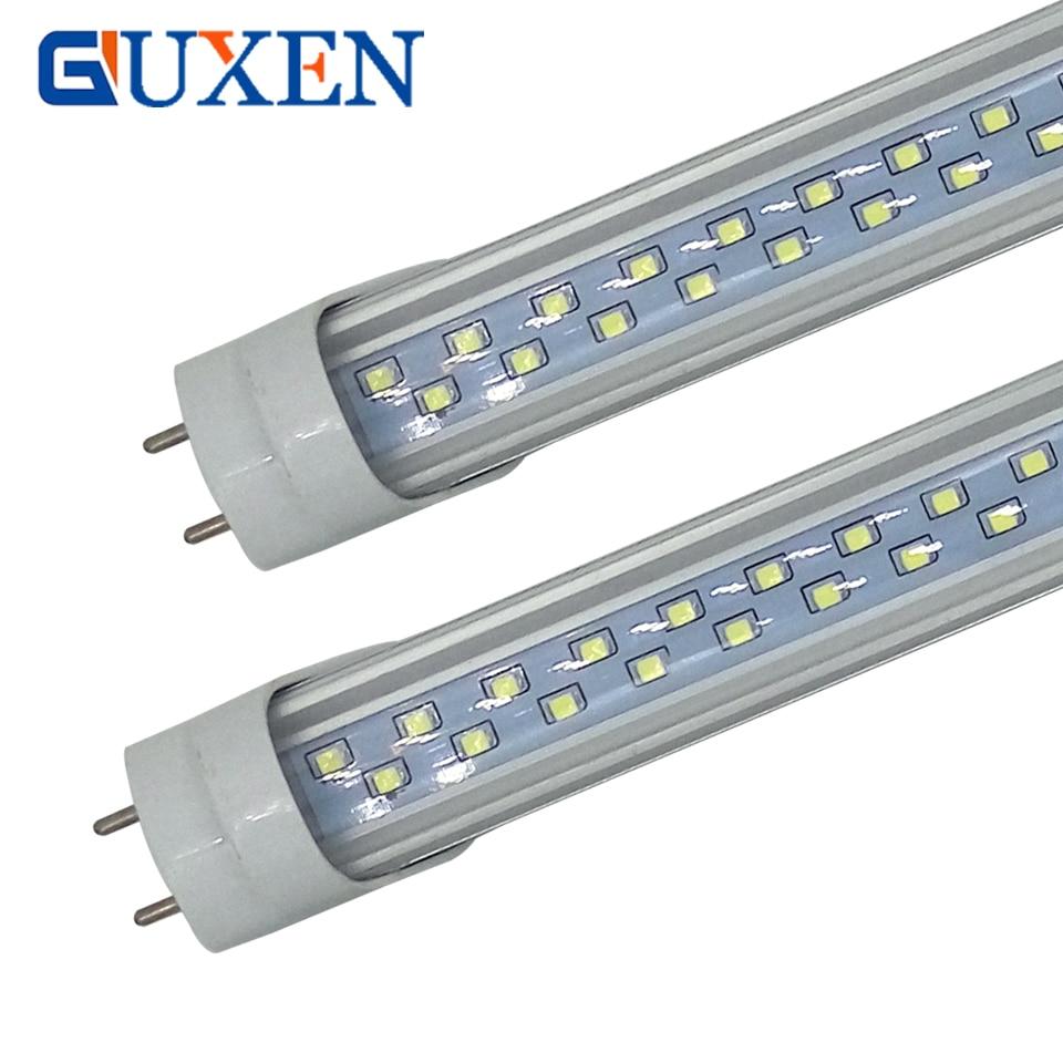 28W 36W T8 Led Tube Double Row 1200mm G13 base SMD 2835 220V 110V led Lighting lamp 2 years warranty free shipping