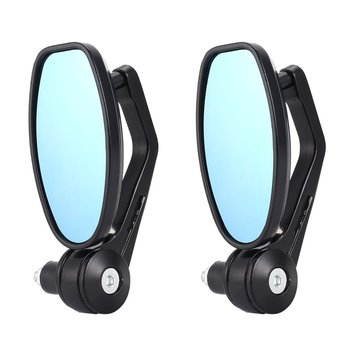 1Pair Motorcycle 7/8″ Handle Bar End Rearview Side Mirrors Fit for Honda for Yamaha KTM Hot