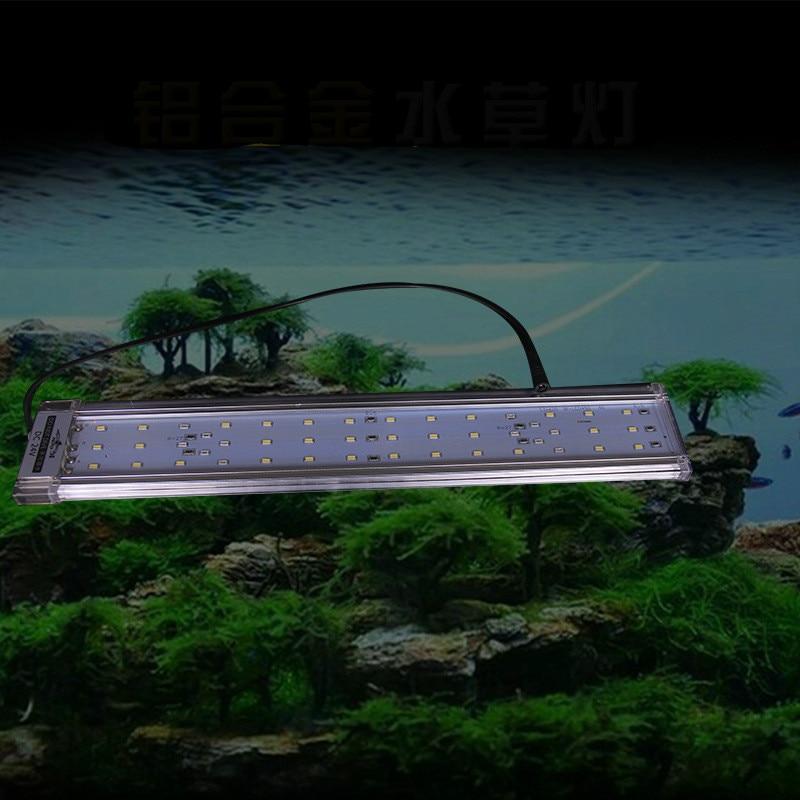 30-80 cm Aquarium Éclairage LED Aquarium Lumière Extensible Stand Lumière LED Approprié pour Aquarium Lampes Reptile Accessoires