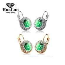 monili di nozze di vendita caldi multicolor austria cristallo 18 k placcato oro reale orecchini per le donne come regalo di natale # CJC60