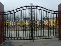 Henchuang custom wrought iron gate forged iron gates villa wrought iron gates