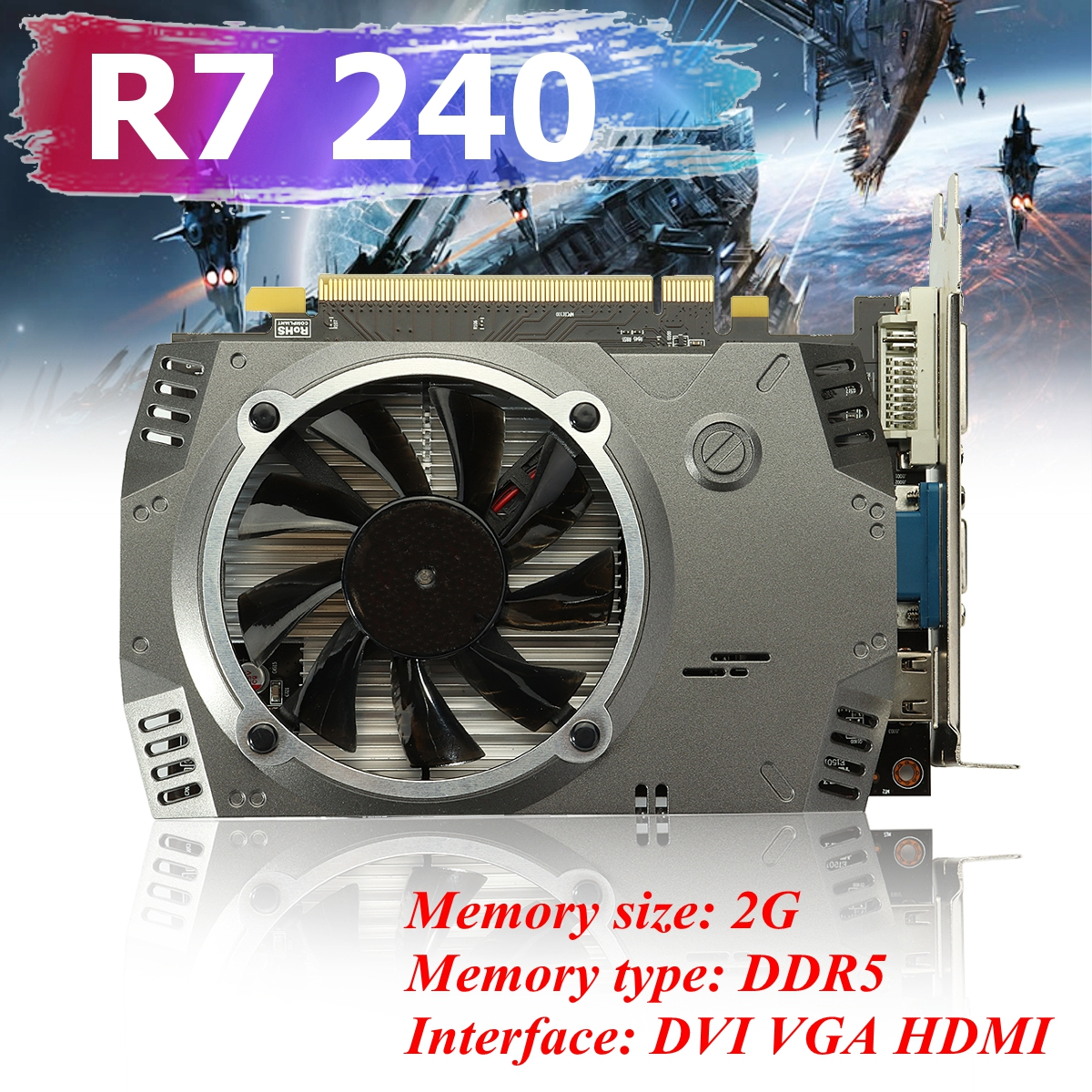 Original R7 240 GPU 2G GDDR5 128bit Gaming Desktop Graphics Card PC Video Graphics Cards Support VGA/DVI/HDMI железная дорога yako останови крушение