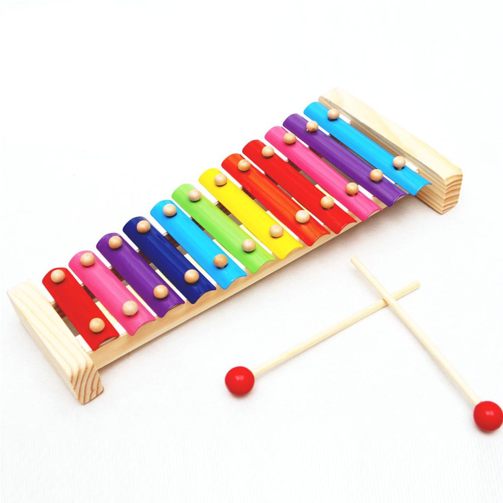 Children 39 s Wooden toy 12 tone Xylophone Toy Musical Instrument Baby Wood Harp Noise Maker toy Early Education Wood Music Toys in Toy Musical Instrument from Toys amp Hobbies