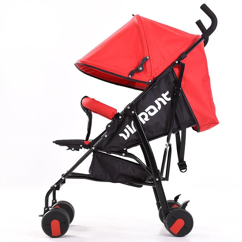 Mode maman rouge bébé poussette léger voyage chariot Portable pliant bébé poussette 3 en 1 parapluie bébé chariot poussette