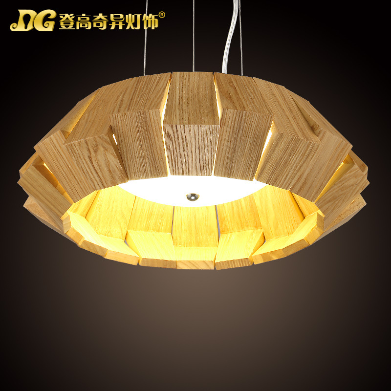 Modern Home Wooden Circular Dining Room Pendant Light  Art Coffee Shop Decoration Light  D380/500/650MM Free Shipping купить