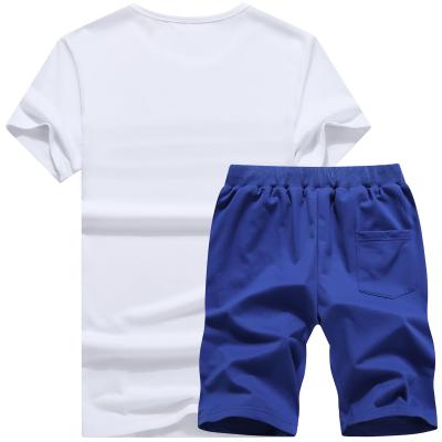 Summer Men Set Sporting Suit Men Short Sleeve T shirt+Shorts Sets Two Pieces Fitness Set Sweat Suit Fashion Casual Tracksuit Men