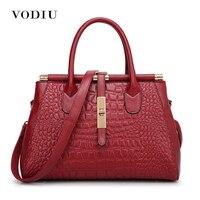 2016 Women Crocodile Genuine Leather Bag PU Leather Handbags Woman Vintage Hand Bag Brands Ladies 5