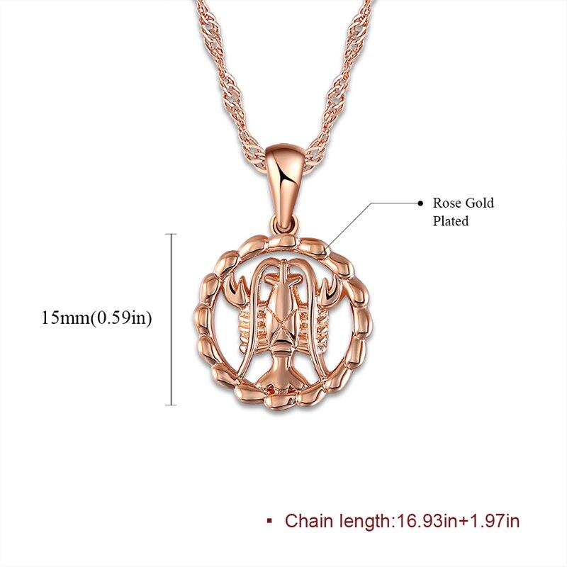 US $2 0 41% OFF 2019 Round Women Constellation Necklaces Jewelry Virgo  Taurus Leo Gemini Aquarius Scorpio Pendant Collier Bijoux Femme Z4-in  Pendant