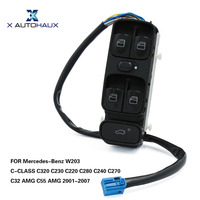 X AUTOHAUX Front Left Power Car Window Control Switch Console A2038210679 For Mercedes Benz W203 C CLASS C320 C230 C240 C55 AMG