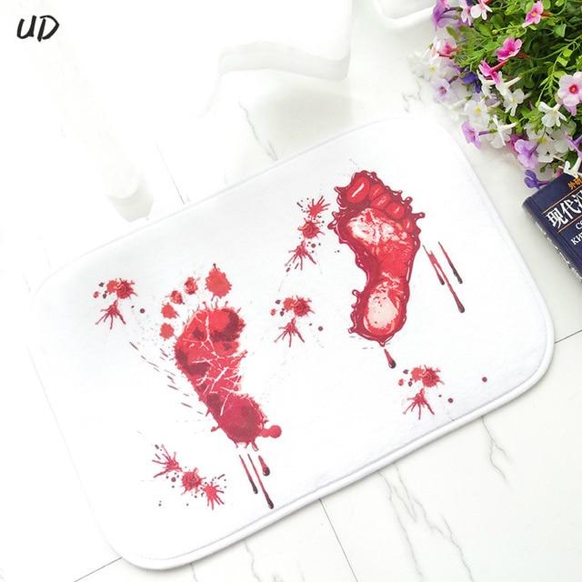 3d halloween blood foot bathroom floor mats doormats kitchen mats living room bath carpet bedroom rugs
