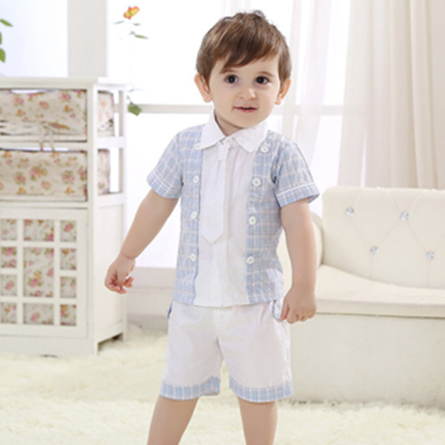 087f5f2ca698 Summer Baby Boys Clothing Set Brand Cotton Children s Clothes Short ...