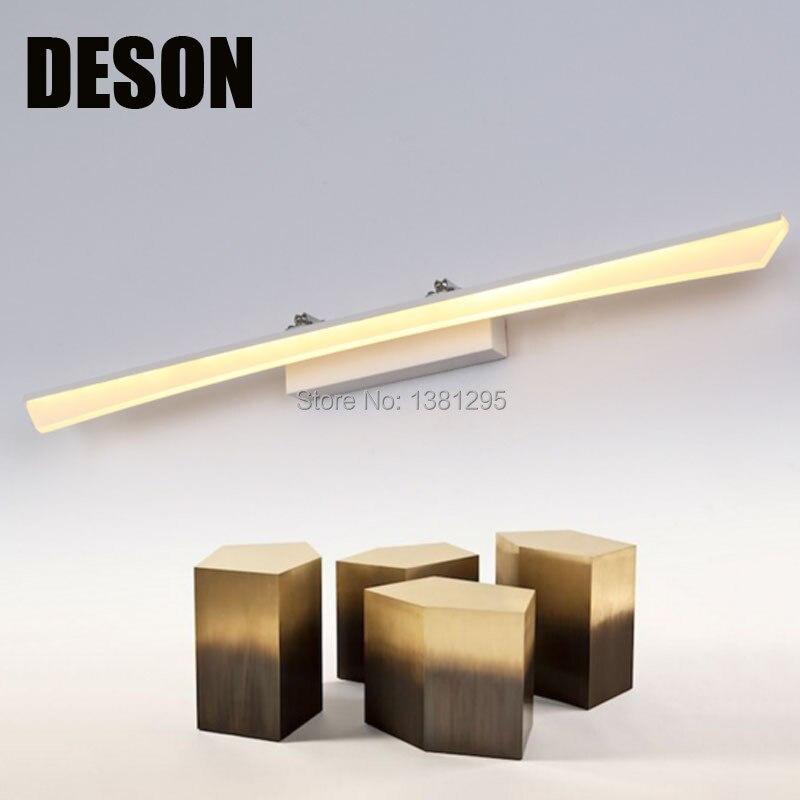 diseo moderno cosmtica de acrlico led de pared espejo del bao lmpara de luz accesorio de