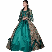 New Historical Stage Dress Ball Gown Halloween Dresses Southern Belle Clothing