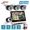 ANRAN P2P 1080P HD 4CH POE NVR LCD Monitor 36 IR Night Outdoor Waterproof FTP Security