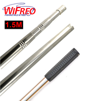 Free Shipping 1 Piece Stainless Steel Foldable 1 5m Length Adjustable Spear Fork Hook Harpoon Landing
