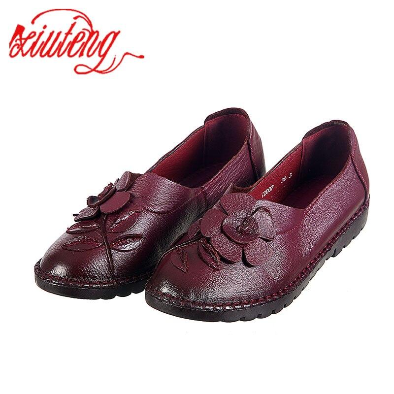 Flache Damenschuhe Schuhe Sinnvoll Xiuteng Handgemachten Frauen Schuhe Vintage Blume Echtem Leder Ausschnitt Frauen Schuhe Flache Bequeme Weiche Laufsohle Casual Schuhe So Effektiv Wie Eine Fee
